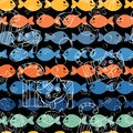 Seamless Patterns .A Series Of Strange Animals. Royalty Free Stock Photography - 46155567