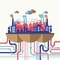 Vector Illustration Concept Of Nature Pollution Stock Photography - 46159262