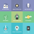 World Energy Resources Flat Icons Set Royalty Free Stock Photo - 46159965