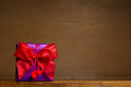 Purple Gift Red Bow Hearts Royalty Free Stock Photos - 46160738
