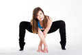 Young Happy Woman Does Fitness Exercise Stock Photo - 46160970