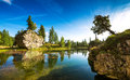Beautiful Clear Water Lake In The Early Morning In The Dolomites Royalty Free Stock Photo - 46167985