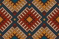 Tribal Aztec Seamless Pattern On The Wool Knitted Texture Royalty Free Stock Photo - 46172495
