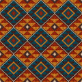 Traditional Tribal Aztec Seamless Pattern On The Wool Knitted Texture Stock Images - 46173074
