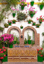 Old European Town - Flower Decoration Of Wall, Cordoba, Spain Stock Photography - 46174762