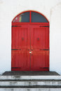 Old Red Wooden Door Royalty Free Stock Image - 46186686
