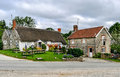 English Country Cottage And Pub Stock Image - 46188301