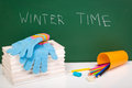 Winter Time Is Here Stock Photography - 46192052