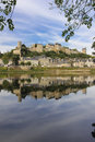 Panorama. City View And Fortress. Chinon. France Stock Photography - 46195312