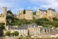 City View And Fortress. Chinon. France Stock Images - 46195374