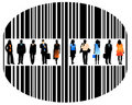 People And Barcode Royalty Free Stock Image - 4627736