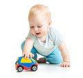 Baby Boy Toddler Playing With Toy Car Royalty Free Stock Photo - 46200445