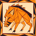 Chinese Horoscope Stylized Stained Glass - Pig Royalty Free Stock Photo - 46201565