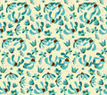 Vintage Seamless Pattern With Abstract Flowers Floral Background Royalty Free Stock Photos - 46220918