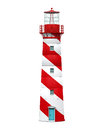 Red Lighthouse Isolated Royalty Free Stock Image - 46226606
