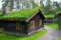 Traditional Norwegian House With Grass Roof.The Norwegian Museum Royalty Free Stock Photos - 46227578