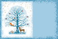Christmas Card With Tree Stock Photography - 46229682