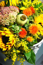 Beautiful Bouquet Of Flowers And Sunflowers Stock Image - 46241061