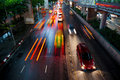 Traffic Lights In Motion Blur. Royalty Free Stock Photo - 46244595