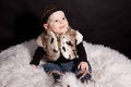 Baby In Fur Coat Royalty Free Stock Photo - 46246715