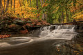 Waterfall In Autumn Royalty Free Stock Photography - 46251707