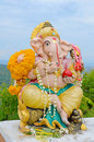Ganesha Statue The Hinduism Very Holy God. Royalty Free Stock Image - 46258246