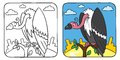 Funny Vulture Coloring Book Royalty Free Stock Photos - 46264318