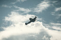 Fighter Plane On Cloudy Sky Stock Photos - 46265803