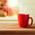 Red Cup Over Window Royalty Free Stock Images - 46267839