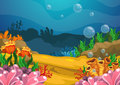 Under The Sea Background Royalty Free Stock Photography - 46268207