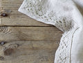 Old Wooden Background With Gray Lace Napkin Stock Photos - 46273733