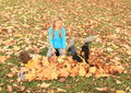 Boy Hiding Under Leaves Stock Images - 46274964