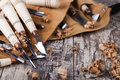 Wood Carving Tools Royalty Free Stock Photos - 46277588