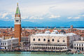 Campanile And Doge S Palace On Saint Marco Square, Venice Stock Photo - 46285880