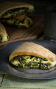 Spinach Yeast Dough Strudel Swiss Chard Rolls Stock Image - 46287451