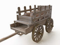 3D Wooden Cart With Barrels Royalty Free Stock Image - 46294196