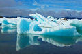 The Icebergs And Ice Floes Are Reflected In Water Royalty Free Stock Photo - 46294975