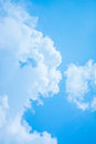 White Cloud And Blue Sky Background Image Royalty Free Stock Photos - 46298778