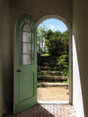 Arched Doorway To Garden Stairs Stock Images - 4632054