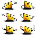 Cartoon Laptop Computers Royalty Free Stock Photography - 4633407