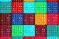 Lots Of Colorful Cargo Containers. Royalty Free Stock Photos - 46307988