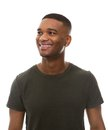Happy African American Man In Green T-shirt Stock Photography - 46309992