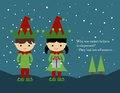 Christmas Card: Elves Stock Photos - 46311773