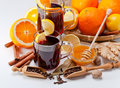 Mulled Wine With Spices Royalty Free Stock Photo - 46312445