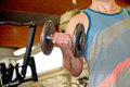 Athletic Man With Dumbbells Royalty Free Stock Photos - 46314528