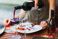 Light Lunch With Wine Royalty Free Stock Photos - 46317158