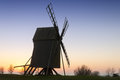 Old Wooden Windmill On The Island Oeland Stock Image - 46320511