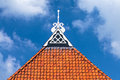 Detail Of The Roof Of An Ancient Dutch Farm Royalty Free Stock Photography - 46337157