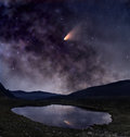 Comet Over Mountain Lake Stock Photo - 46342730