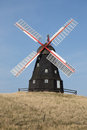 Black Windmill Stock Image - 46345421